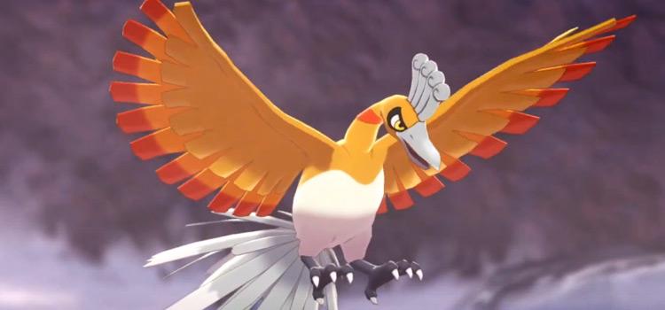 Shiny Ho-Oh in Pokemon Sw/Sh