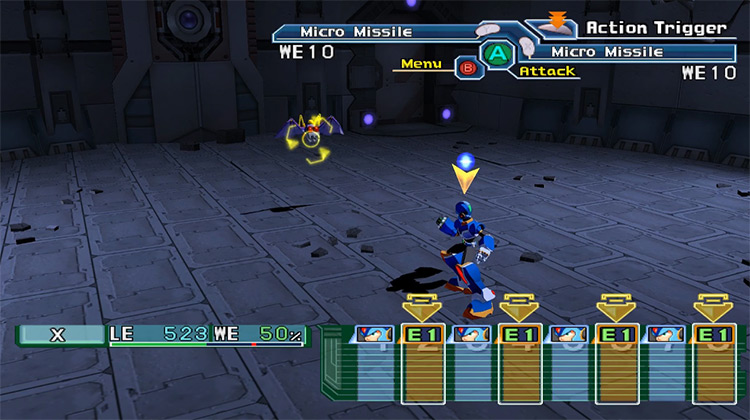 Megaman X Command Mission gameplay