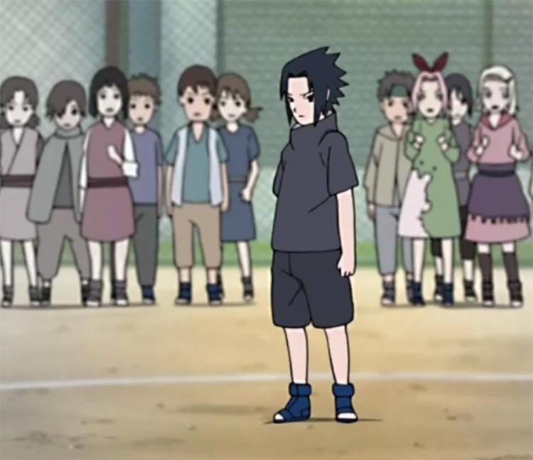Kid Sasuke (Black and Grey) in Naruto anime