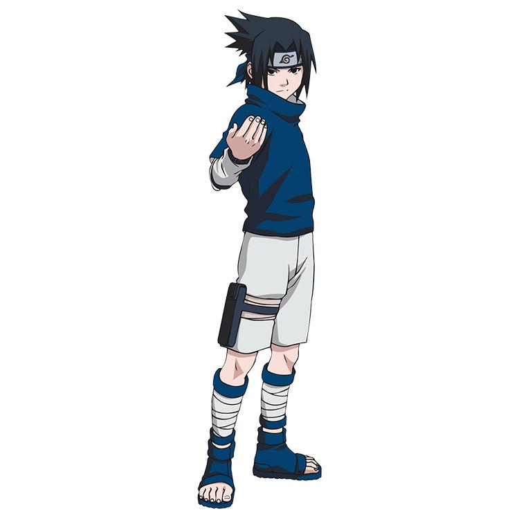 Sasuke with the Fake Sleeves from Naruto anime