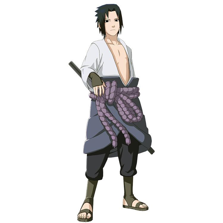 Sasuke's First Shippuden Outfit in Naruto anime