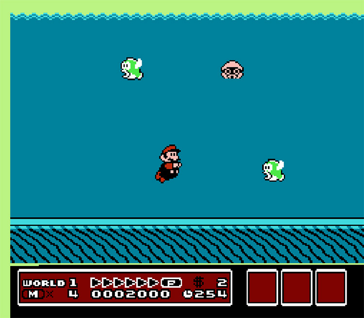Super Mario Bros. in The Mystery of the Flying Fish screenshot