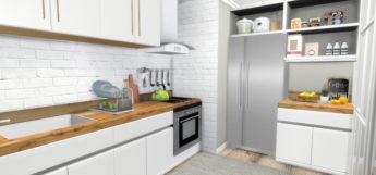 IKEA Kitchen with custom Fridge