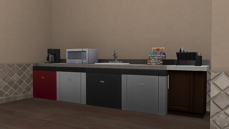 Counter Slot Mini Fridge by littledica Sims 4 CC