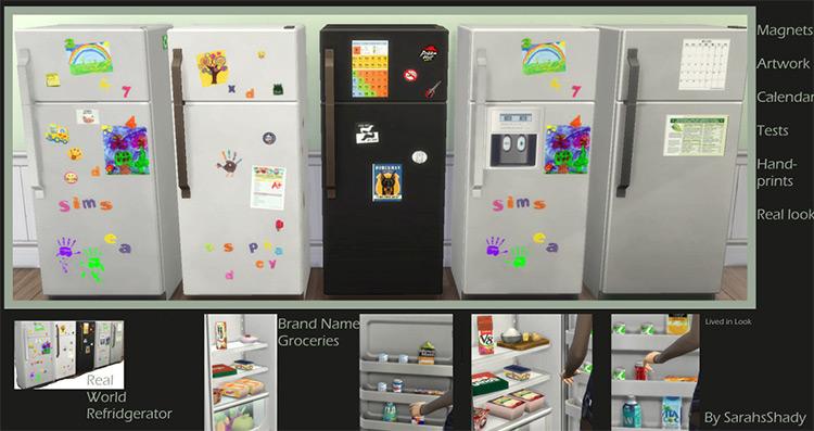Real World Living Series Refrigerators by Shady Sims TS4 CC