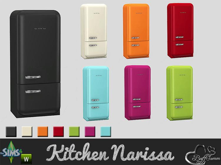 Kitchen Narissa Refrigerator by BuffSumm Sims 4 CC