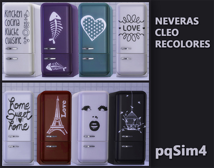Nevera Cleo Recolor by pqSim4 for Sims 4