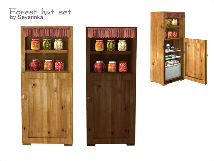 Rustic Refrigerator by Severinka Sims 4 CC