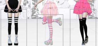Cute thigh hick socks - TS4 CC