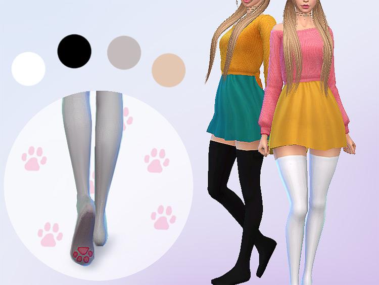 Socks | Kitty Paws by Saruin Sims 4 CC