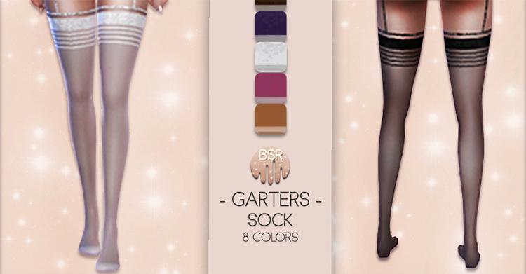 Garters [Socks] BD04 by busra-tr for Sims 4