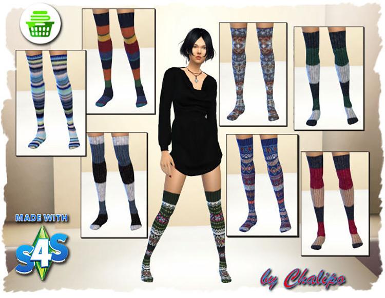 S4 Socks – Overknee-Leggins by Chalipo Sims 4 CC