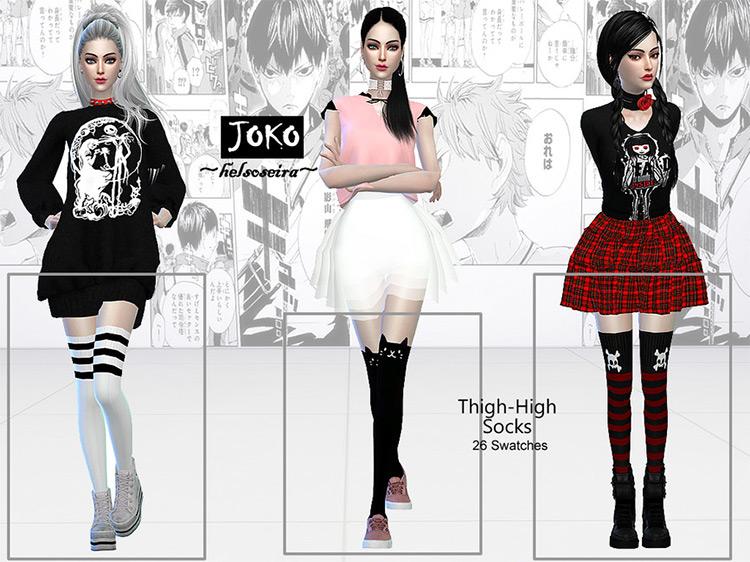 JOKO – Thigh-high – Socks by Helsoseira for Sims 4