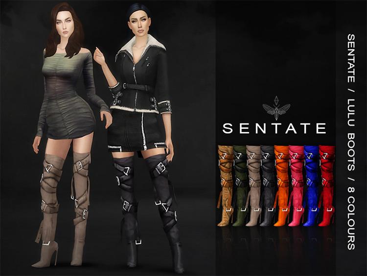 Sentate – Lulu Boots by Sentate Sims 4 CC