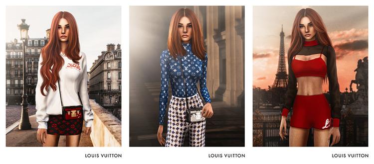 Louis Vuitton SS20 Collection Sims 4 CC