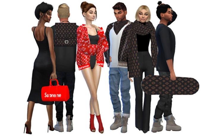 Supreme x Louis Vuitton Collection Sims 4 CC