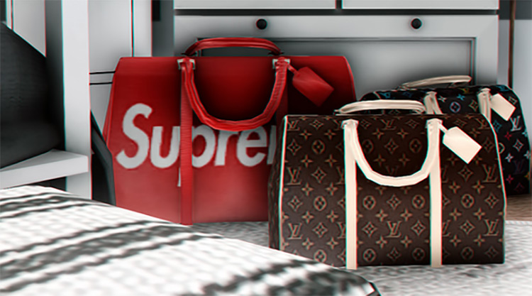 LV Duffle Bags for Sims 4