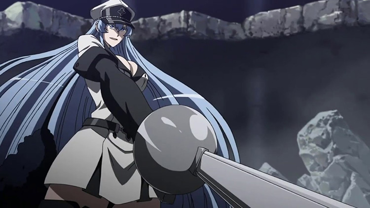 Esdeath in Akame ga Kill anime