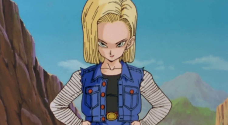 Android 18 in Dragon Ball Z anime