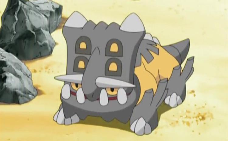 Bastiodon battle Pokémon anime