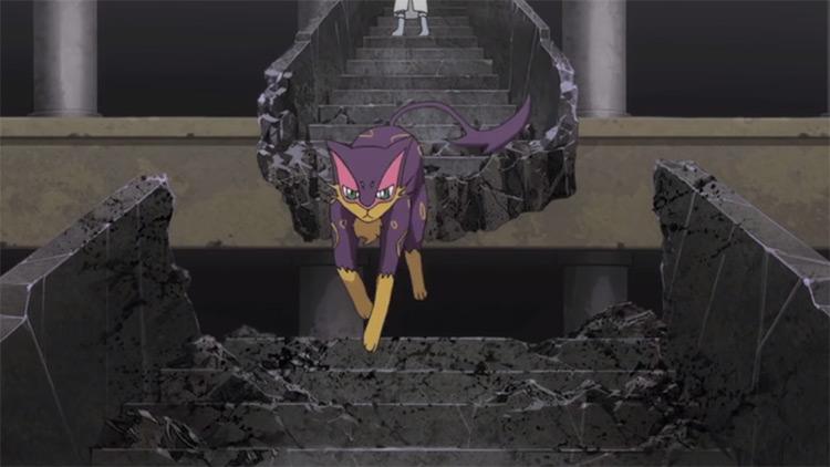 Liepard in Pokémon anime