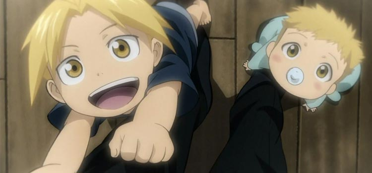 Ed and Al Elric Brothers as kids