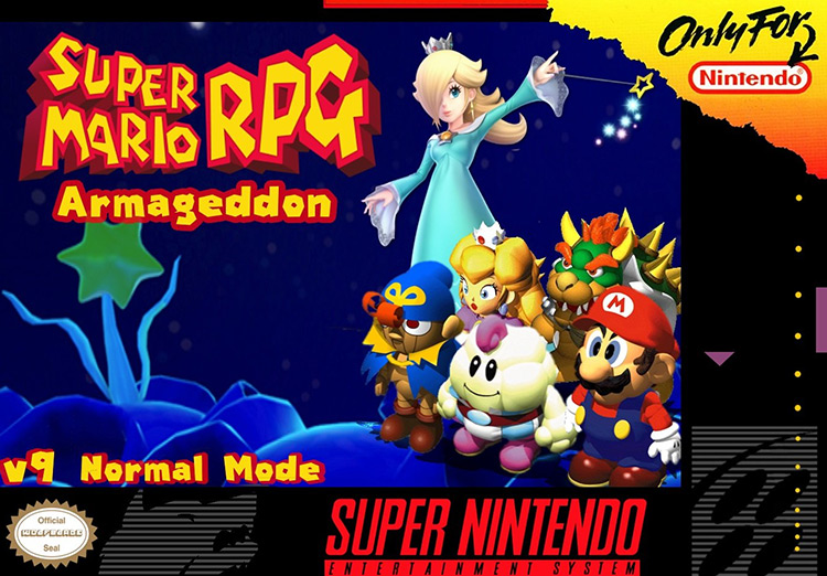 Super Mario RPG Armageddon Game title menu