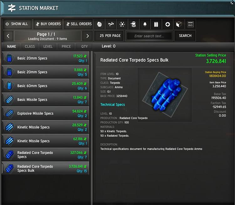 10x Bulk Ammo Blueprint in Astrox Imperium