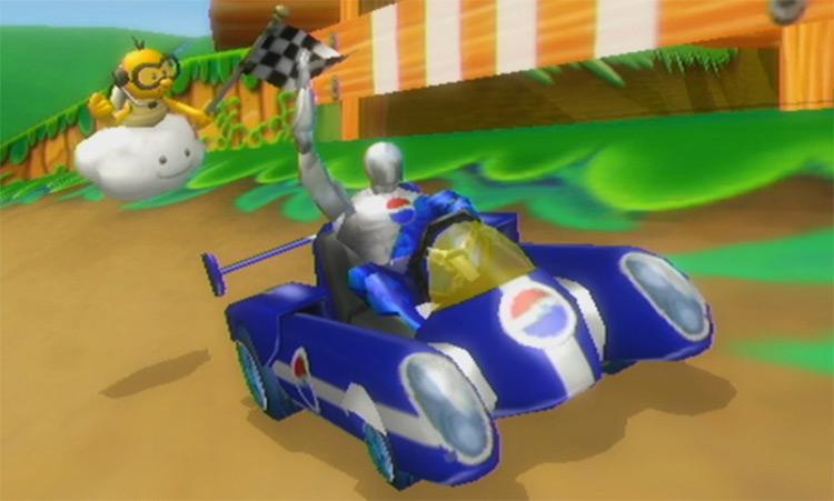 Pepsiman Mario Kart Wii mod