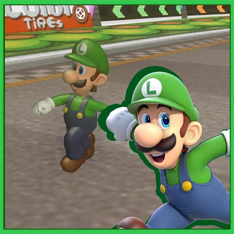 Luigi On Foot Mario Kart Wii mod