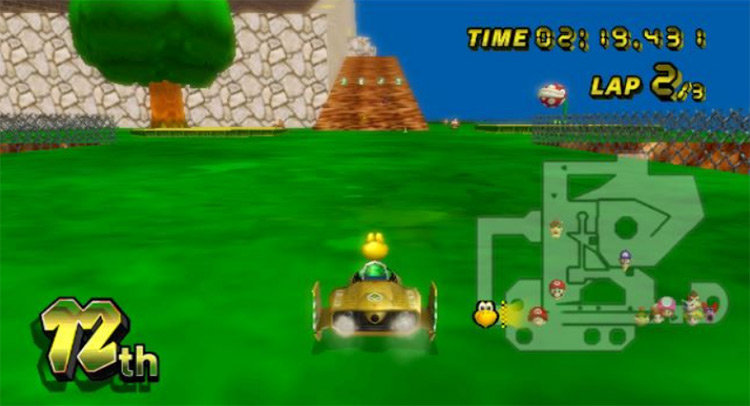 SM64 Whomp's Fortress in MKWii