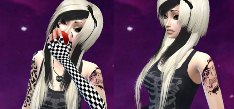 Goth Girl preview in The Sims 4