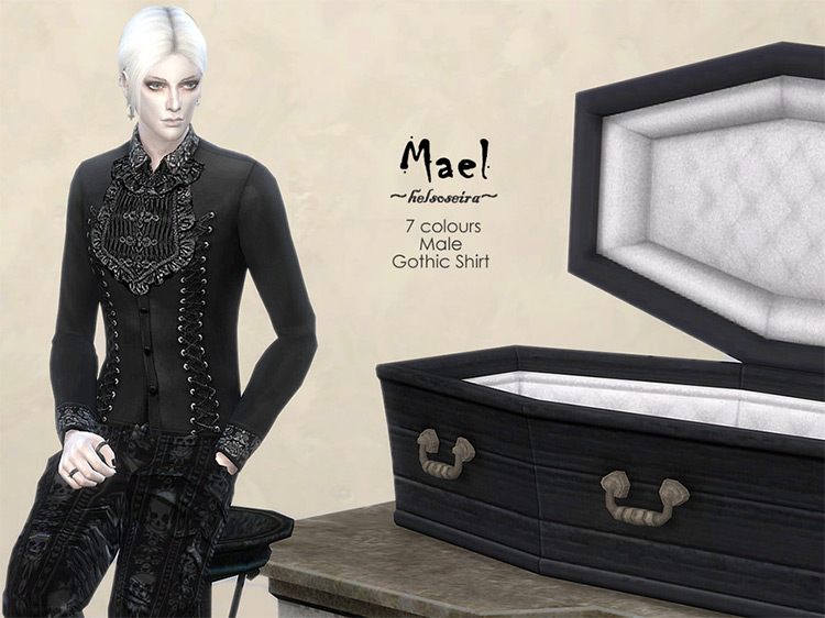 MAEL – Gothic Shirt – Male (Updated) by Helsoseira for Sims 4