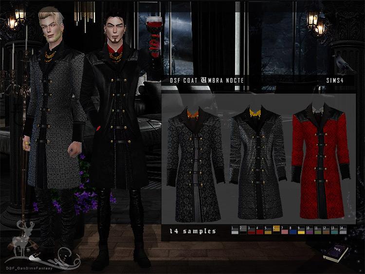 DSF Coat Umbra Nocte by DanSimsFantasy Sims 4 CC