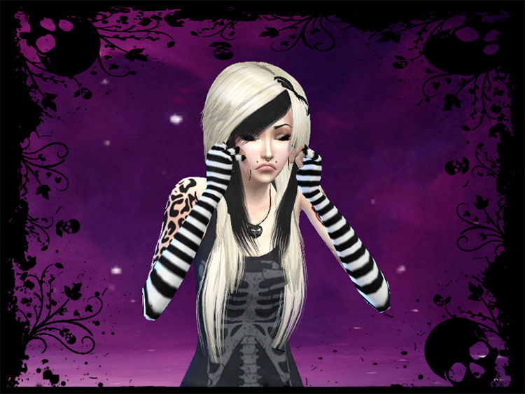 Basic Emo Fingerless Gloves by MaruChanBe for Sims 4