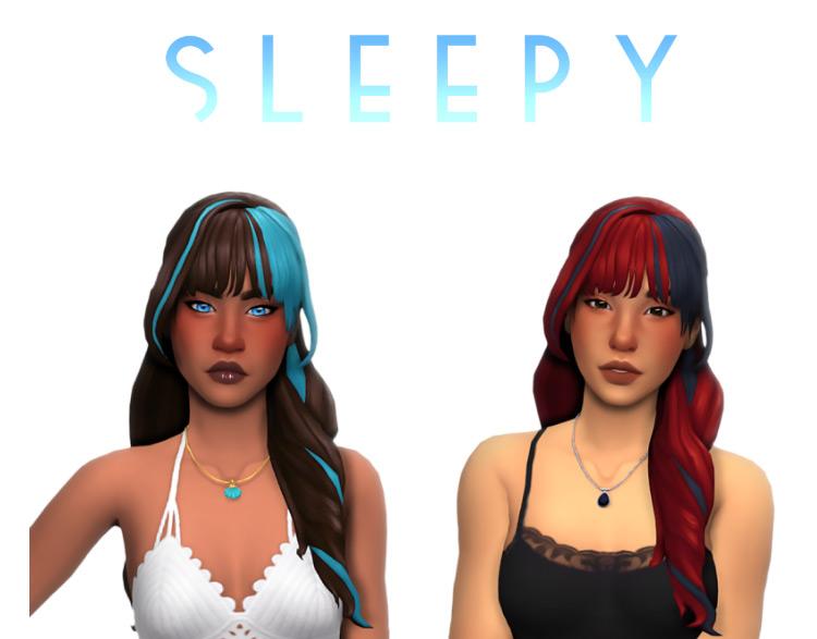 Sleepy Hair by simandy Sims 4 CC