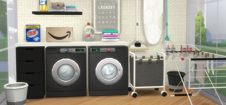 The Sims 4: Best Laundry CC, Mods & Clutter Packs