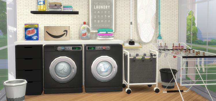 Modern Laundry Room CC & Stuff - TS4