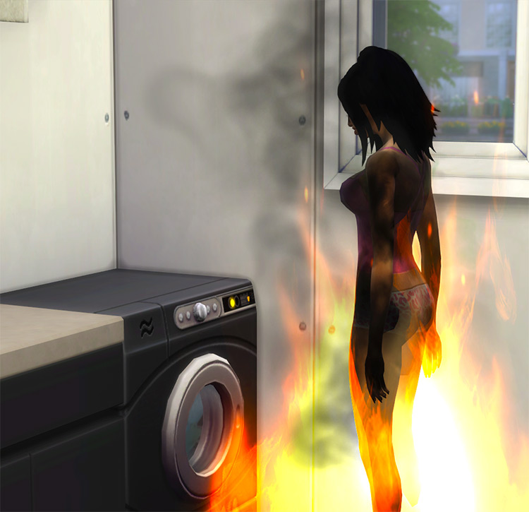 Less Laundry Fires by Rainbow_Brite Sims 4 CC