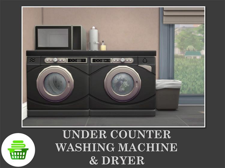 Under Counter Washing Machine & Dryer by Teknikah TS4 CC