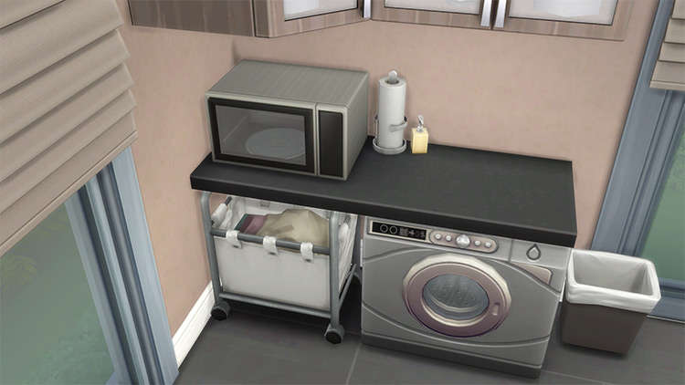 Under Counter Laundry Baskets by Teknikah Sims 4 CC