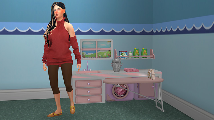 Rea Toddlers Laundry by jomsims for Sims 4