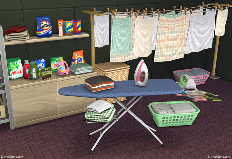 Laundry Décor Set (The Sims 4) by Dara_Savelly (darasims.net) TS4 CC