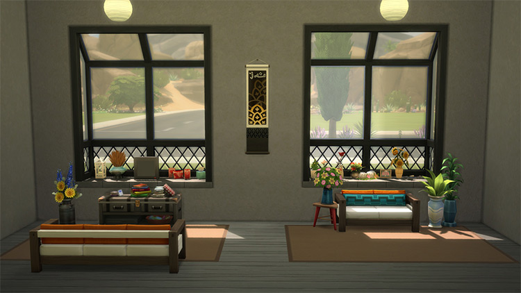Laundry Day Window w/ Clutter Slots by Illogical Sims Sims 4 CC