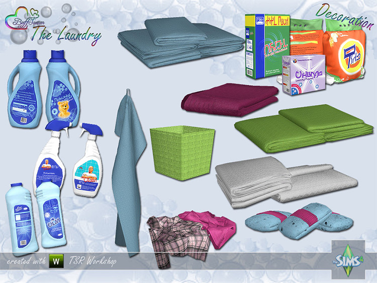 The Laundry – Decoration by BuffSumm Sims 4 CC