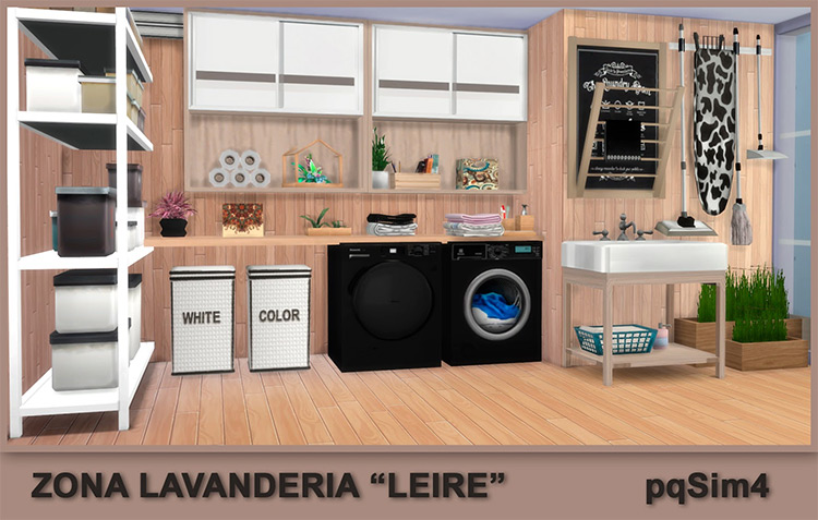 """Laundry Area """"Liere"""" by pqsim4 for Sims 4"""