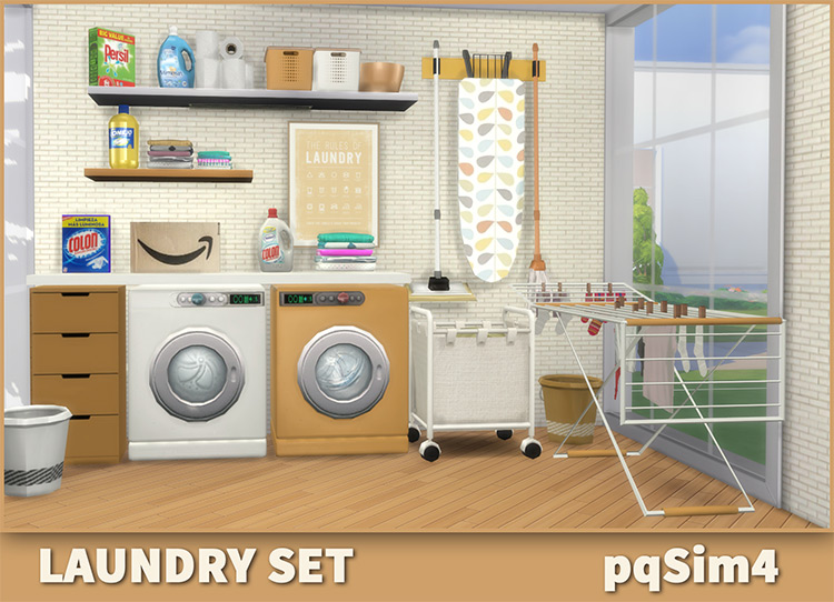 Laundry Set by pqsim4 Sims 4 CC