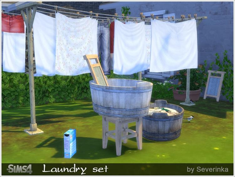 Laundry Set by Severinka Sims 4 CC