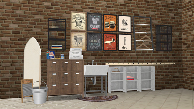 Vintage Laundry by Lulu265 Sims 4 CC