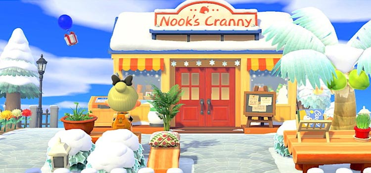 Nook's Cranny Exterior designed in Winter